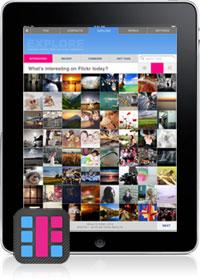 Flickr Studio op de iPad