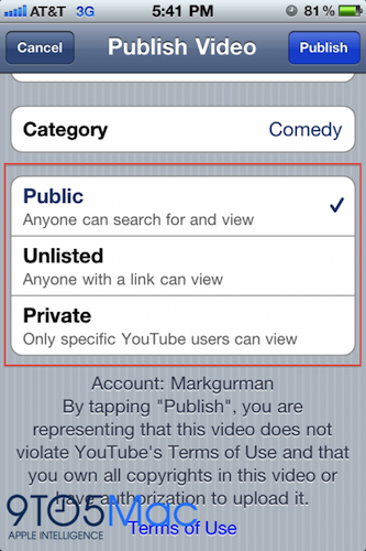iOS 4.2 beta 2 - youtube