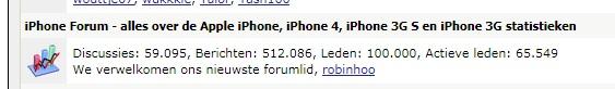 iPhoneclub forum: 100.000 leden