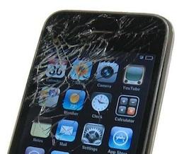 iphone broken screen