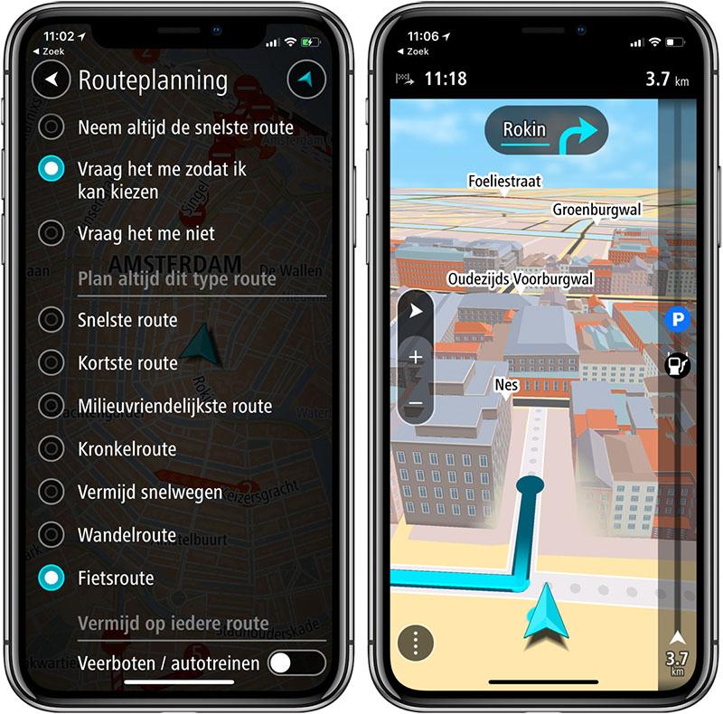 fietsnavigatie apps voor de iphone. Black Bedroom Furniture Sets. Home Design Ideas