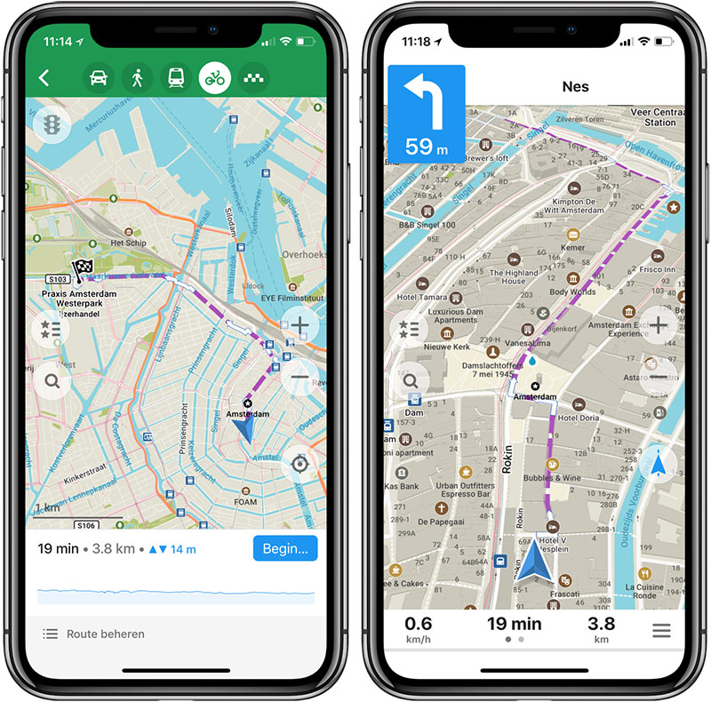 Maps.ME Fietsnavigatie apps