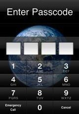 iphone pincode