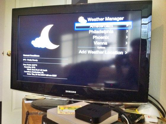 Weer-functionaliteit van NitoTV