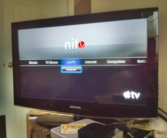 NitoTV op 2e generatie Apple TV