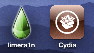 limera1n: Cydia geïnstalleerd