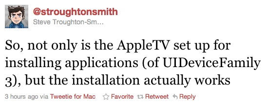apple tv tweet