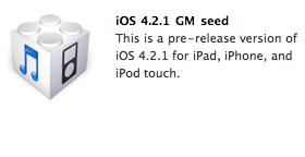 iOS 4.2.1 GM