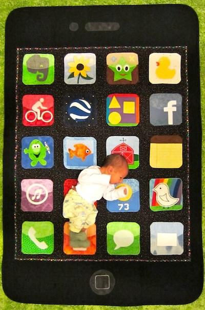 iphone baby quilt