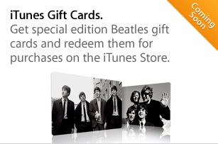 beatles itunes gift cards