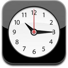 iPhone klok-applicatie
