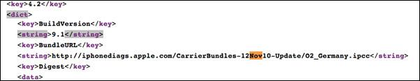 Carrier update iOS 4.2