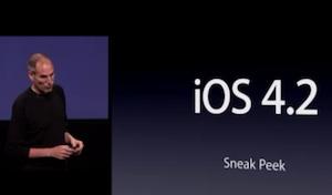 iOS 4.2 - Steve Jobs