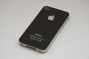Apple-logo op iPhone 4