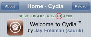 Cydia - unieke handtekening iOS 4.1