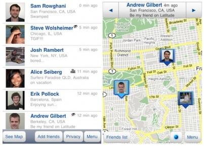 google latitude screens