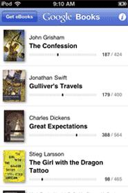 Google eBooks iPhone