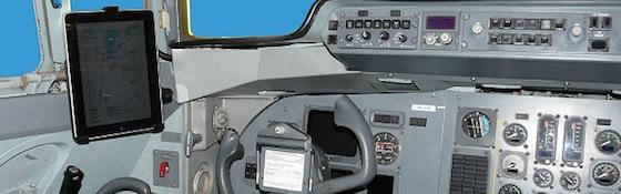 ipad vliegtuig fokker cockpit