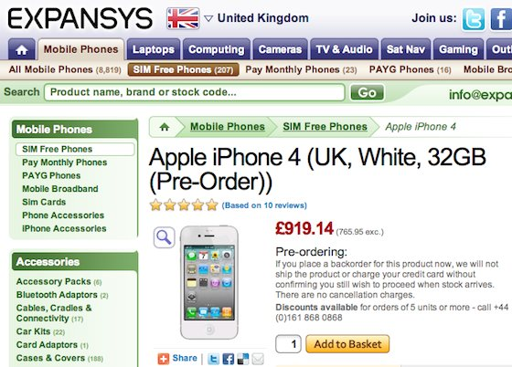expansys iphone wit