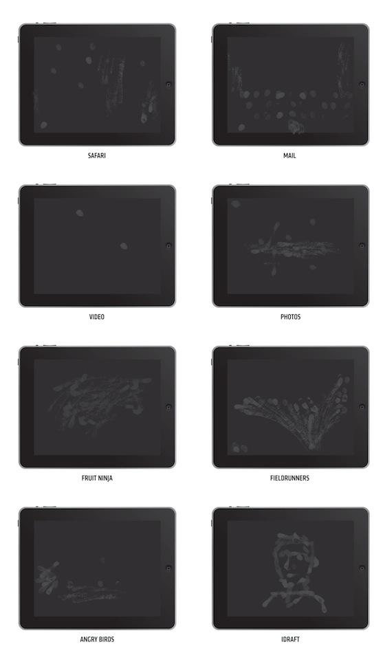 Vlekken op het iPad-scherm na gebruik verschillende applicaties