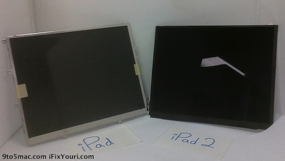 Scherm iPad en mogelijk scherm iPad 2