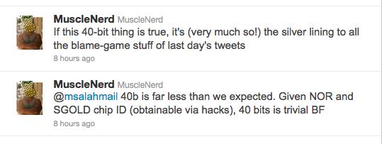 NCK brute force tweets
