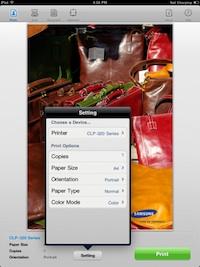 samsung mobile print ipad
