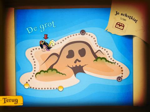 Piet Piraat voor de iPad landkaart