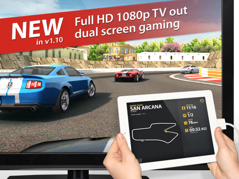 Real Racing 2 HD 1080p op iPad 2