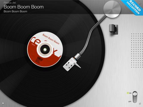 VinylLove grammofoonplaat voor de iPad