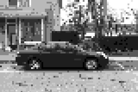Pixelcam voor iPhone en iPod touch grijze auto