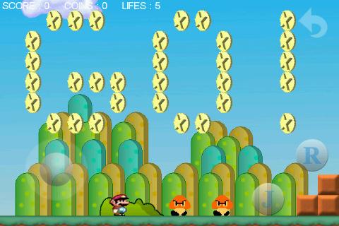 Super Mario voor de iPhone coins