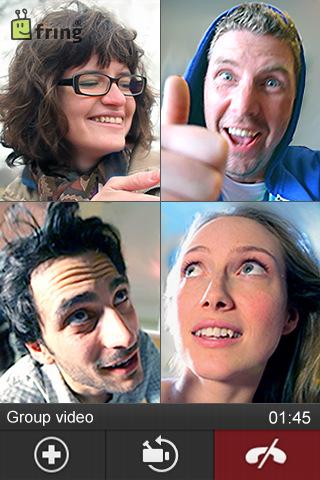 Fring groepsvideo voor de iPhone