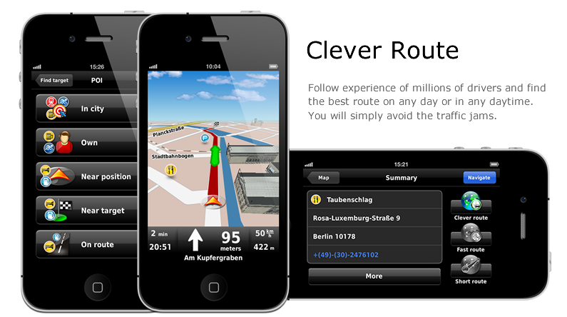 Dynavix iPhone navigatie introductieplaat