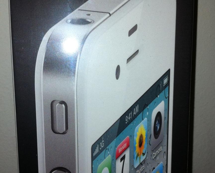 Witte iPhone - voorzijde verpakking