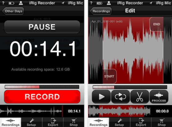 irig app iphone