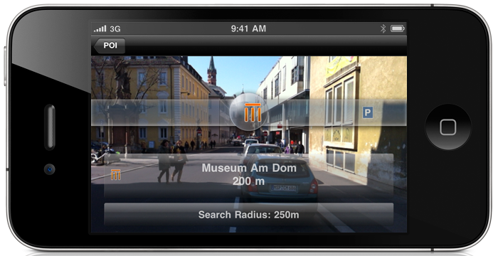 Augmented Reality in Navigon Select