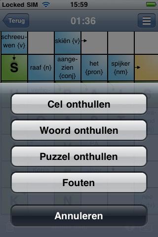 Kruiswoordpuzzels hulpopties