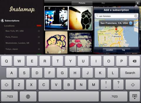 Instamap voor de iPad toevoegen