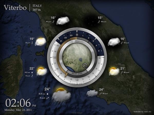 Aelios Weather voor iPad globaal weer bekijken