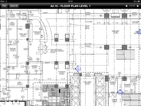 McDwiff voor de iPad plattegrond