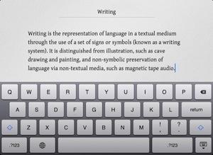 Writings: tekstverwerken zonder afleiding op de iPad