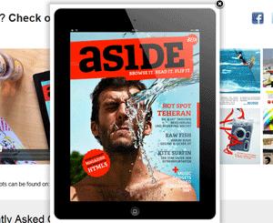 Aside Magazine voor de iPad met HTML5 gemaakt