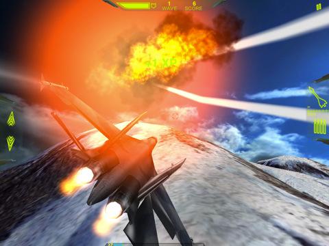 iPad MetalStorm Online explosie op blauwe lucht