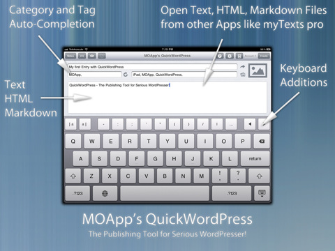 QuickWordPress iPad applicatie post publiceren