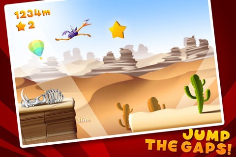 GU DI Run Ostrich Run voor iPhone en iPod