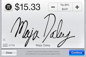 square iphone handtekening