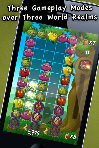 GU VR Bad Apples Battle Harvest voor iPhone en iPod touch