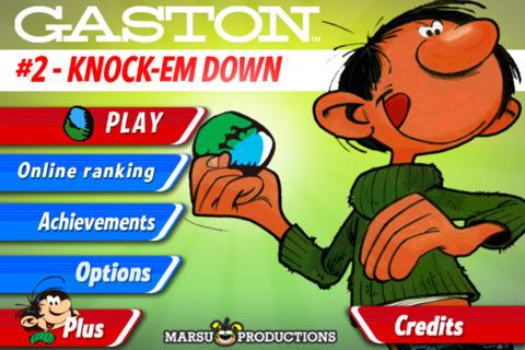 GU DO Gaston Knock Em Down voor iPhone en iPod touch
