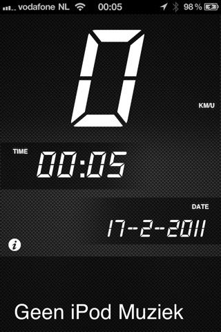 muziek dashboard in-app